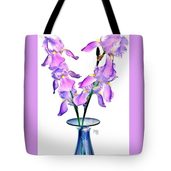 Iris Still Life In A Vase Tote Bag