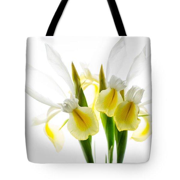 Iris Trio Black And White Tote Bag