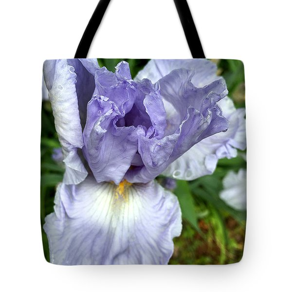 Iris Up Close Tote Bag