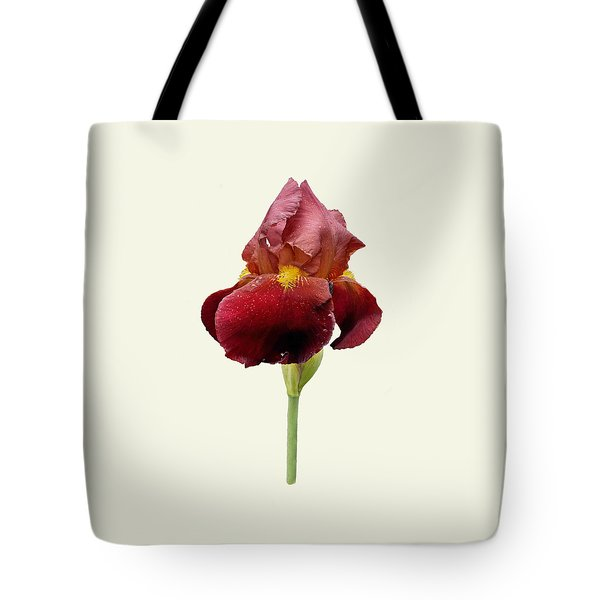 Iris Vitafire Cream Background Tote Bag