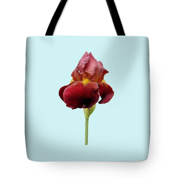 Iris Vitafire Blue Background Tote Bag