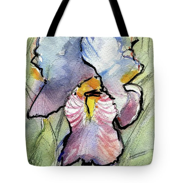 Iris With Impact Tote Bag by Ron Wilson