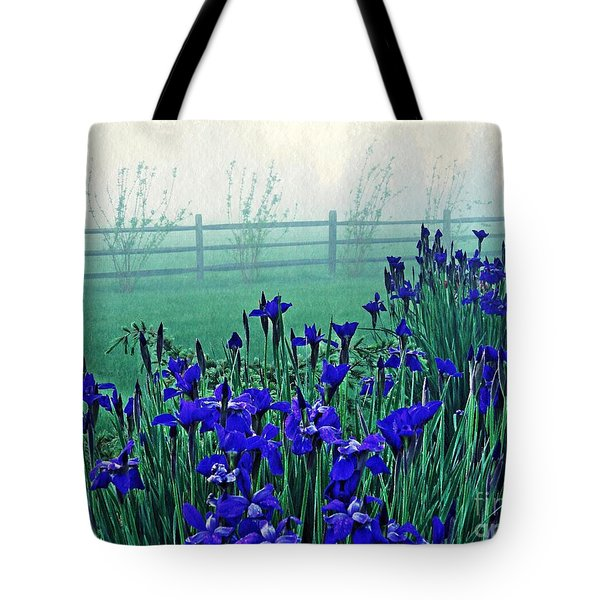 Irises At Dawn 3 Tote Bag