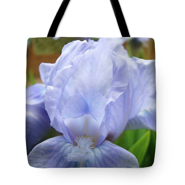Irises Blue Iris Flower Light Blue Art Flower Soft Baby Blue Baslee Troutman Tote Bag by Baslee Troutman