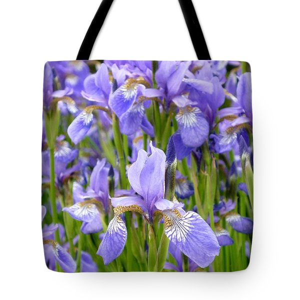 Irises Tote Bag by Tim Good