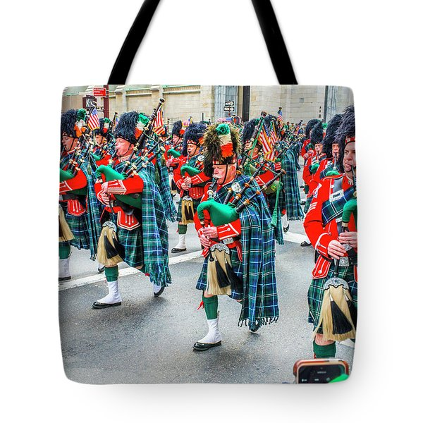 St. Patrick Day Parade In New York Tote Bag