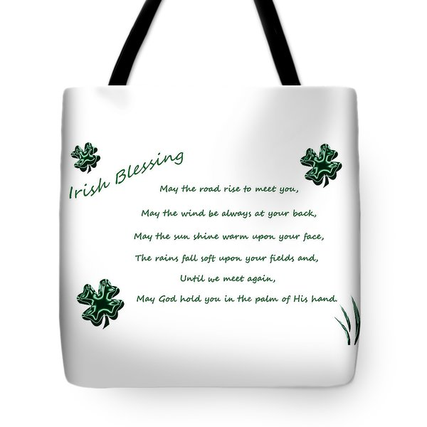 Irish Blessing 2 Tote Bag