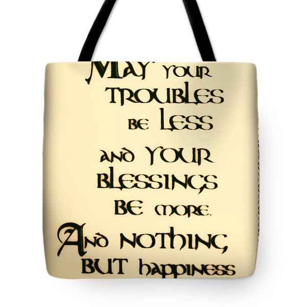 Irish Blessing Tote Bag by Bill Cannon
