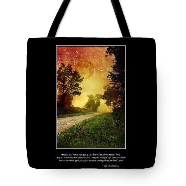 Irish Blessing Poster Art Tote Bag