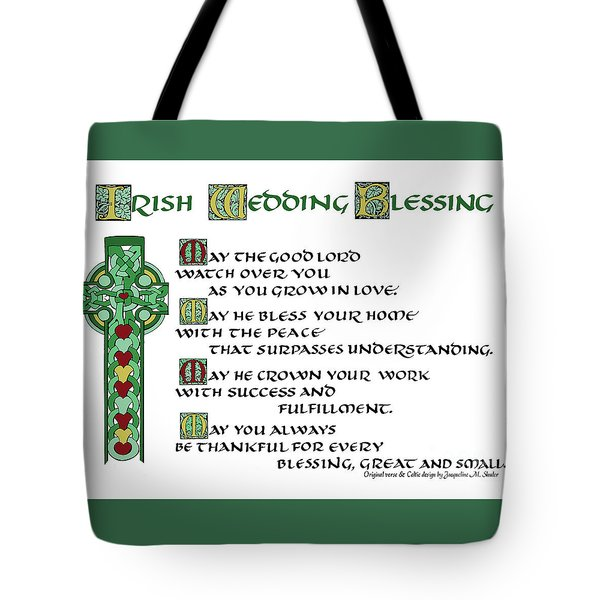 Irish Celtic Wedding Blessing Tote Bag