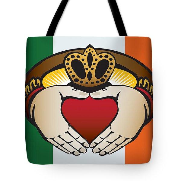 Irish Claddagh Art Tote Bag