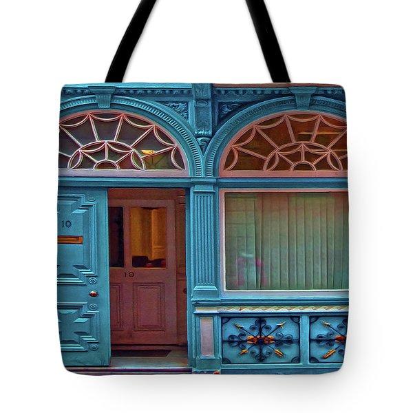 Tote Bag featuring the digital art Irish Door by Hanny Heim