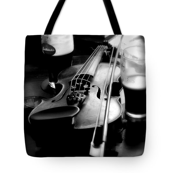 Irish Fiddle On A Break Tote Bag