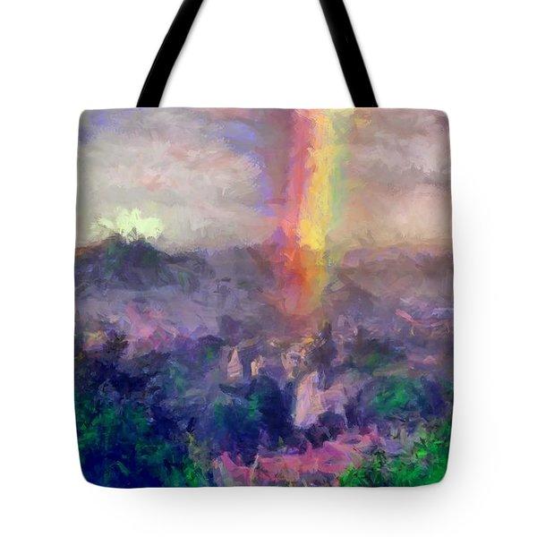 Irish Rainbow Tote Bag