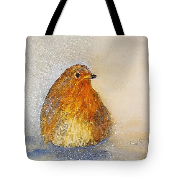 Irish Robin In The Snow Tote Bag