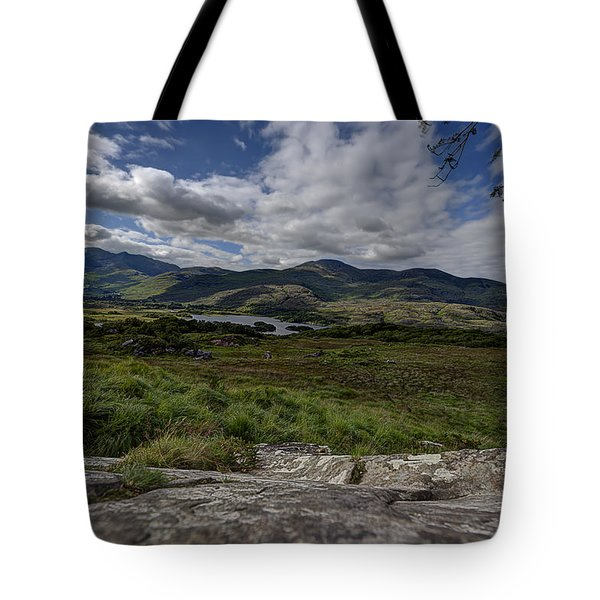 Tote Bag featuring the photograph Irish Sky - Wicklow Mountains by Enrico Pelos