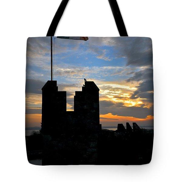 Irish Sunset Over Ramparts 1 Tote Bag