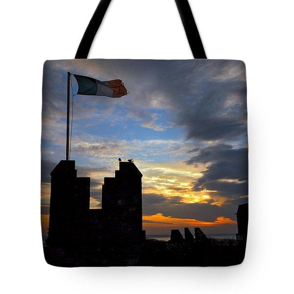 Irish Sunset Over Ramparts 2 Tote Bag