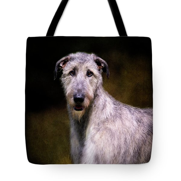 Irish Wolfhound Portrait Tote Bag