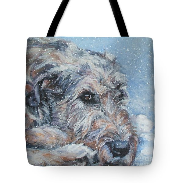 Irish Wolfhound Resting Tote Bag