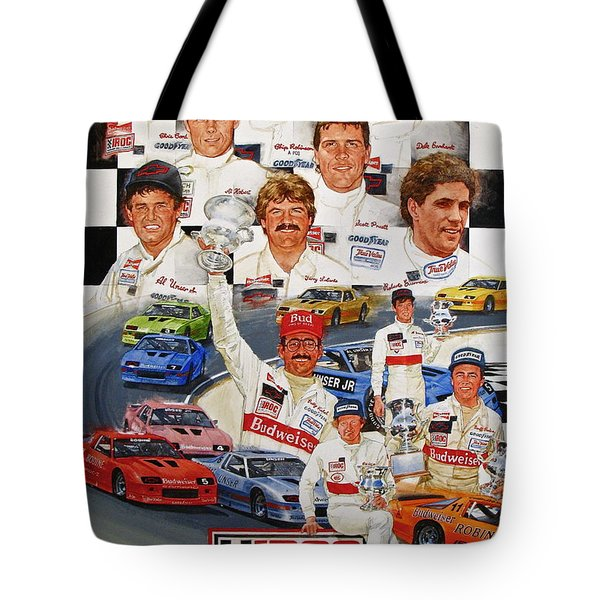 Tote Bag featuring the painting Iroc Racing by Cliff Spohn