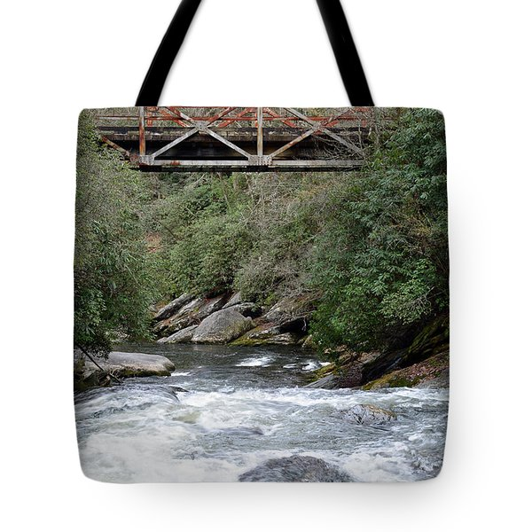 Iron Bridge Over Chattooga River Tote Bag by Bruce Gourley