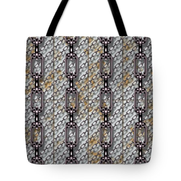 Iron Chains With Metal Panels Seamless Texture Tote Bag