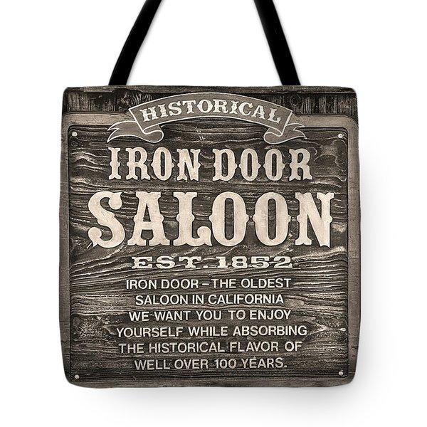 Iron Door Saloon 1852 Tote Bag