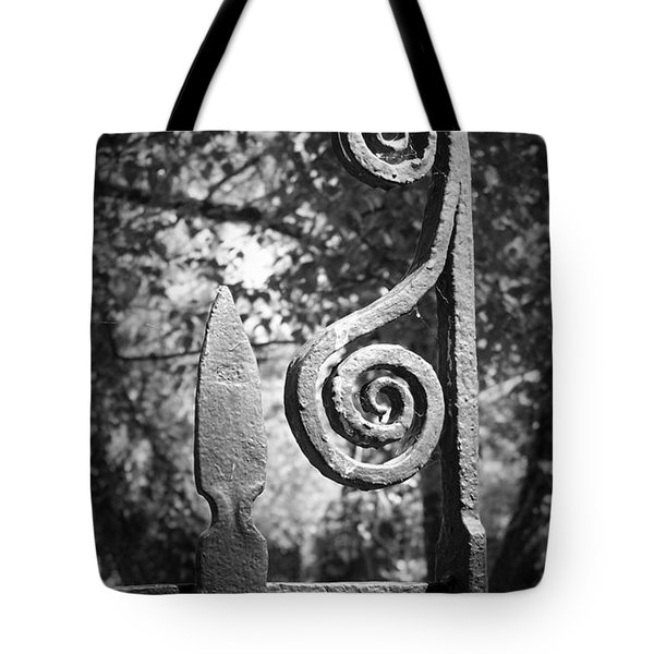 Iron Gate Detail County Clare Ireland Tote Bag by Teresa Mucha