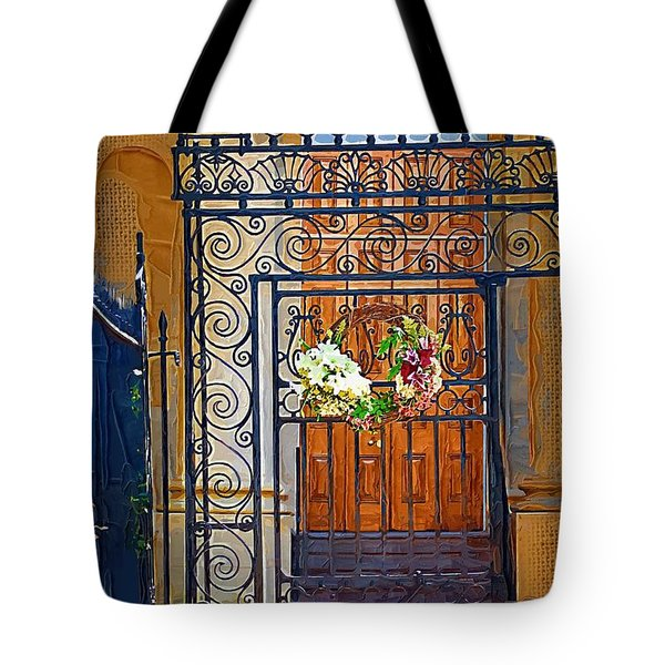 Tote Bag featuring the photograph Iron Gate by Donna Bentley