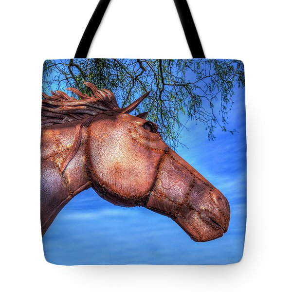Tote Bag featuring the photograph Iron Horse by Paul Wear
