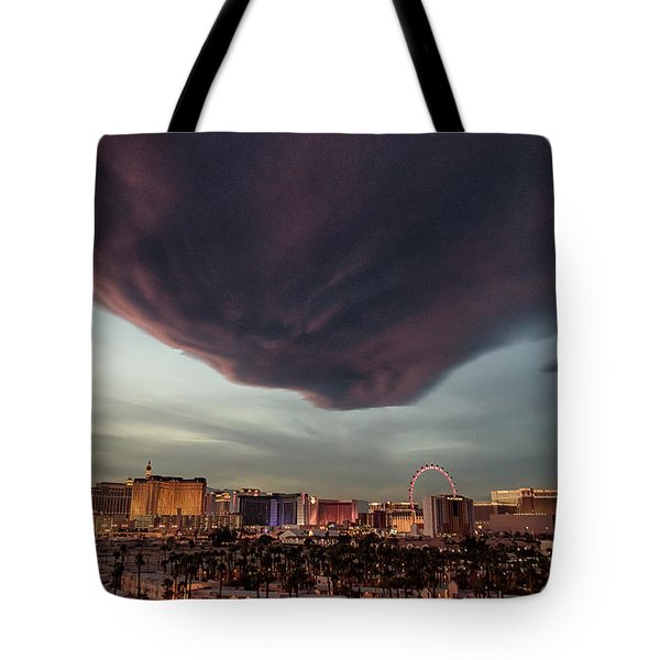 Tote Bag featuring the photograph Iron Maiden Las Vegas by Michael Rogers