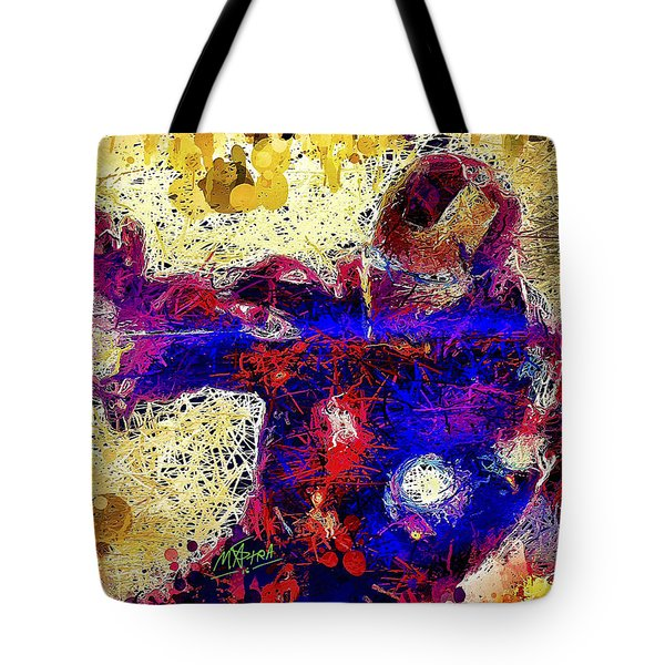 Tote Bag featuring the mixed media Ironman  by Al Matra