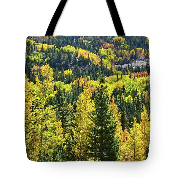 Tote Bag featuring the photograph Ironton Fall Color by Ray Mathis