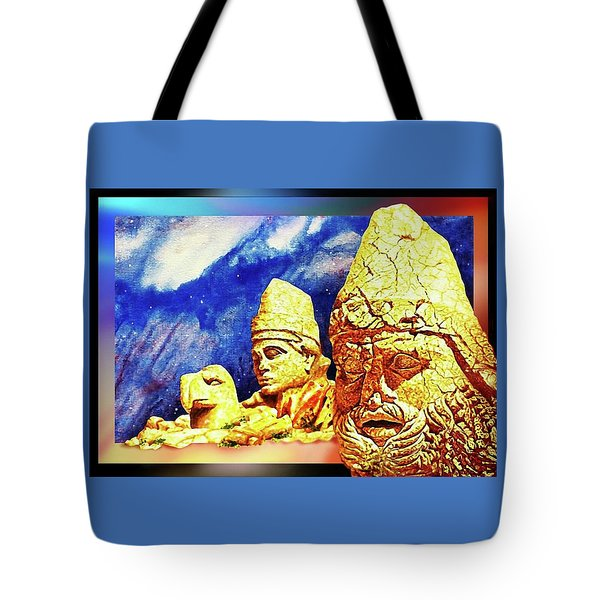 Tote Bag featuring the painting Irreplaceable   Ancient  Glory by Hartmut Jager