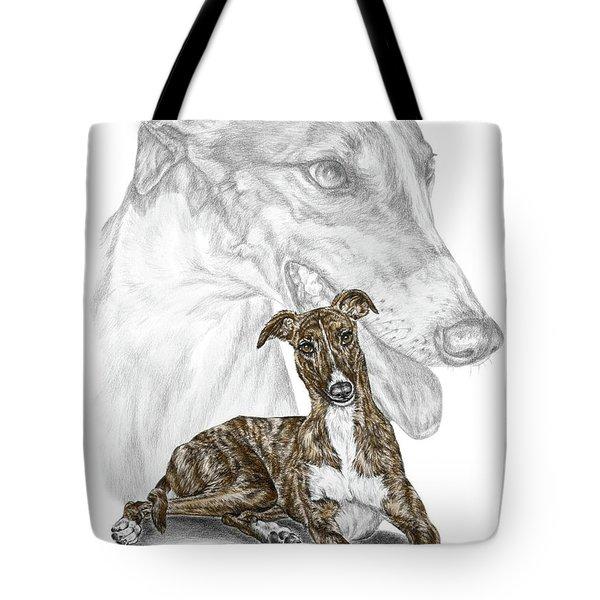 Irresistible - Greyhound Dog Print Color Tinted Tote Bag