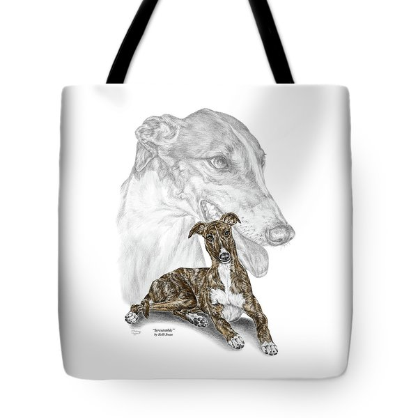Irresistible - Greyhound Dog Print Color Tinted Tote Bag