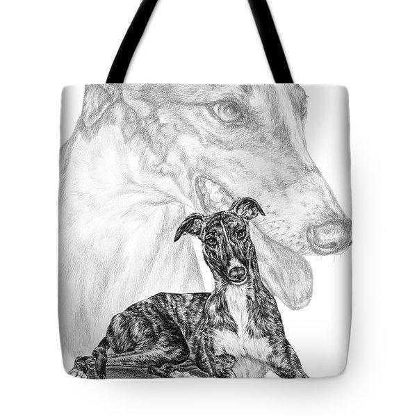Irresistible - Greyhound Dog Print Tote Bag