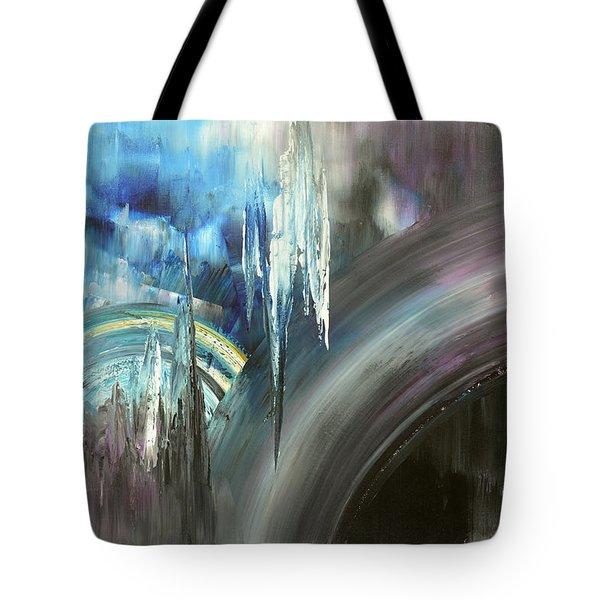 Tote Bag featuring the painting Irresistible Impulses by Tatiana Iliina