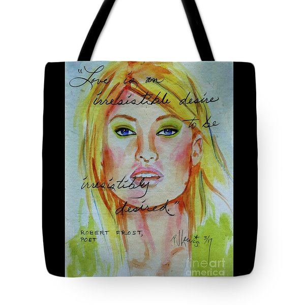 Tote Bag featuring the painting Irresistible by P J Lewis