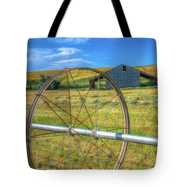 Irrigation Water Wheel Hdr Tote Bag by James Hammond