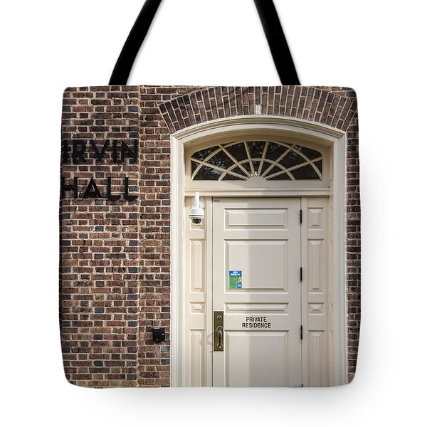 Irvin Hall Penn State  Tote Bag by John McGraw