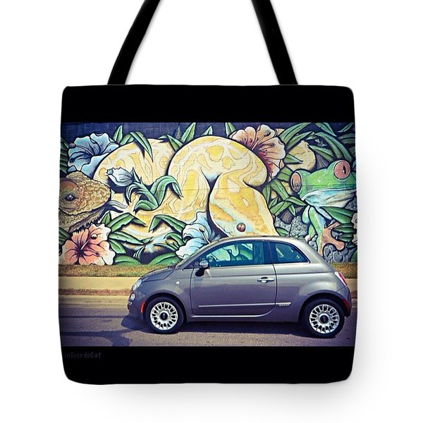 Is It Safe To Drive Mr. #fiat Into The Tote Bag