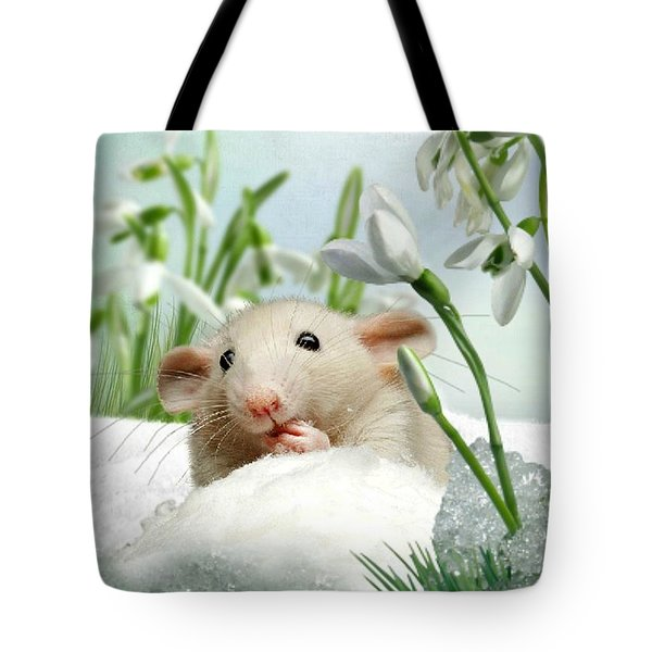 Is It Spring Yet ? Tote Bag by Morag Bates