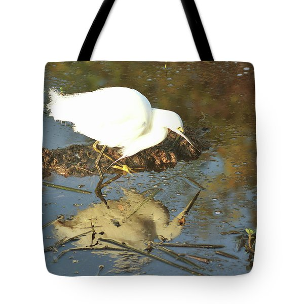 Tote Bag featuring the pyrography Is That Really Me? by Sally Sperry