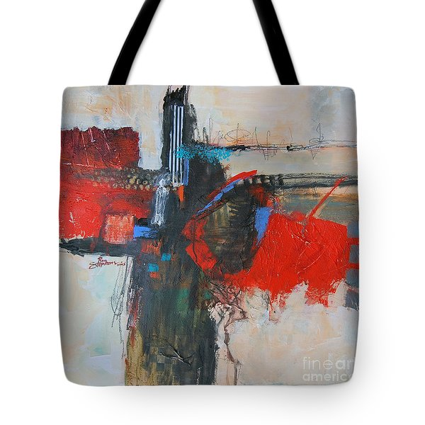 Tote Bag featuring the painting Is This The Way Out? by Ron Stephens