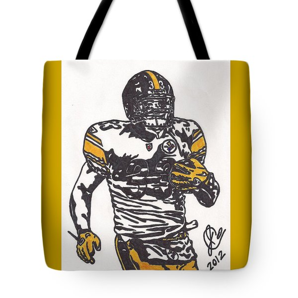 Tote Bag featuring the drawing Isaac Redman by Jeremiah Colley