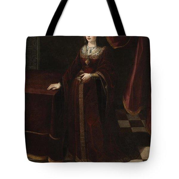 Isabel I De Castilla Tote Bag