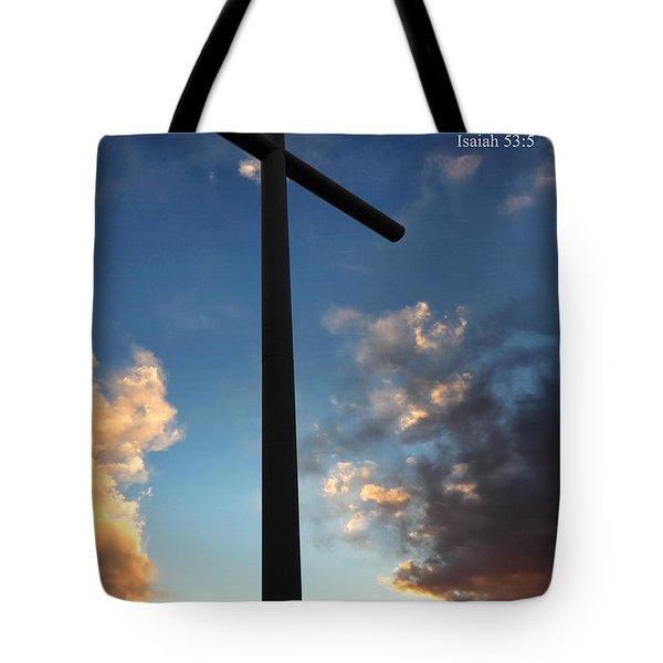 Isaiah 53-5 Tote Bag