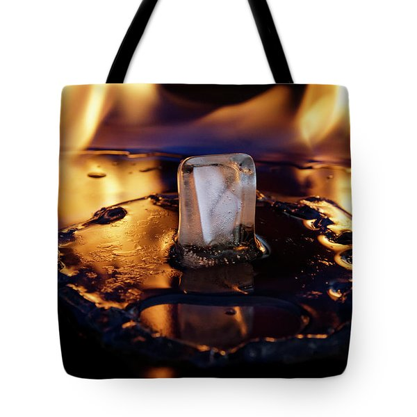 Tote Bag featuring the photograph Isengard Abstract by Rico Besserdich